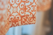 handmade orange valance